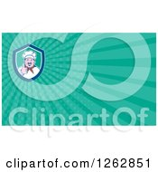 Clipart Of A Chef Holding A Thumb Up And Rays Business Card Design Royalty Free Vector Illustration