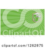 Clipart Of A Retro Scales Of Justice Business Card Design Royalty Free Illustration