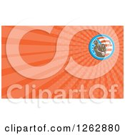 Clipart Of A Retro Golfer And American Flag Business Card Design Royalty Free Illustration
