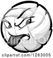 Clipart Of A Volleyball Mascot Royalty Free Vector Illustration
