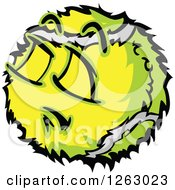 Clipart Of A Tennis Ball Mascot Royalty Free Vector Illustration