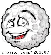Clipart Of A Golf Ball Mascot Royalty Free Vector Illustration by Chromaco