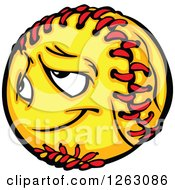 Clipart Of A Softball Mascot Royalty Free Vector Illustration