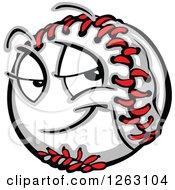 Clipart Of A Baseball Mascot Royalty Free Vector Illustration