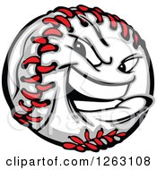 Clipart Of A Tough Baseball Mascot Royalty Free Vector Illustration by Chromaco