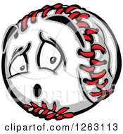 Clipart Of A Baseball Mascot Royalty Free Vector Illustration by Chromaco