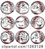 Clipart Of Baseball Mascots Royalty Free Vector Illustration