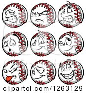 Clipart Of Baseball Mascots Royalty Free Vector Illustration