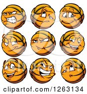 Clipart Of Basketball Mascot Royalty Free Vector Illustration