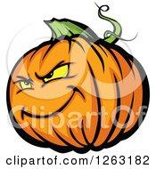 Tough Halloween Pumpkin Character