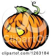 Sad Halloween Pumpkin Character