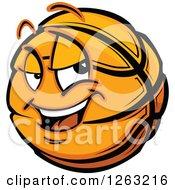 Clipart Of A Basketball Mascot Royalty Free Vector Illustration