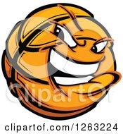 Clipart Of A Tough Basketball Mascot Royalty Free Vector Illustration