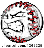 Clipart Of A Tough Baseball Mascot Royalty Free Vector Illustration