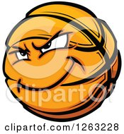 Clipart Of A Basketball Mascot Royalty Free Vector Illustration by Chromaco