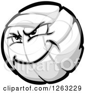 Clipart Of A Tough Volleyball Mascot Royalty Free Vector Illustration by Chromaco