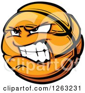 Clipart Of A Tough Basketball Mascot Royalty Free Vector Illustration by Chromaco