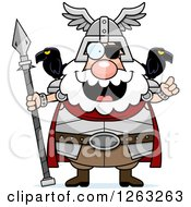 Clipart Of A Cartoon Smart Chubby Odin With An Idea Royalty Free Vector Illustration by Cory Thoman
