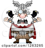 Clipart Of A Cartoon Scared Screaming Chubby Odin Royalty Free Vector Illustration by Cory Thoman
