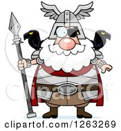 Clipart Of A Cartoon Happy Chubby Odin Royalty Free Vector Illustration by Cory Thoman