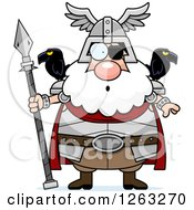 Clipart Of A Cartoon Surprised Gasping Chubby Odin Royalty Free Vector Illustration by Cory Thoman