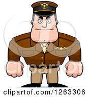Clipart Of A Caucasian Male Pilot Captain Royalty Free Vector Illustration by Cory Thoman