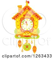Clipart Of A Cuckoo Clock Royalty Free Vector Illustration