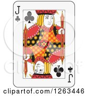 Clipart Of A Jack Of Clubs Playing Card Royalty Free Vector Illustration by Frisko