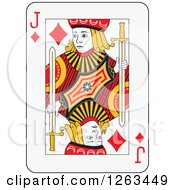 Clipart Of A Jack Of Diamonds Playing Card Royalty Free Vector Illustration