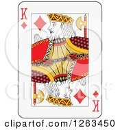 Clipart Of A King Of Diamonds Playing Card Royalty Free Vector Illustration by Frisko