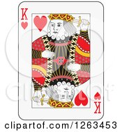 Clipart Of A King Of Hearts Playing Card Royalty Free Vector Illustration