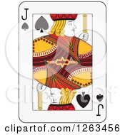 Clipart Of A Jack Of Spades Playing Card Royalty Free Vector Illustration
