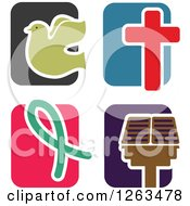 Colorful Tile And Christian Icons