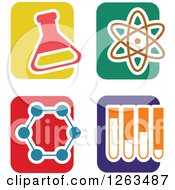 Clipart Of Colorful Tile And Science Icons Royalty Free Vector Illustration by Prawny
