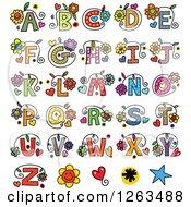Colorful Floral Alphabet Letters