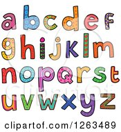 Clipart Of Colorful Patterned Alphabet Letters Royalty Free Vector Illustration