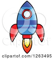 Clipart Of A Flying Rocket Royalty Free Vector Illustration by Prawny