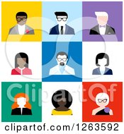 Clipart Of Business Men And Women Avatars Royalty Free Vector Illustration