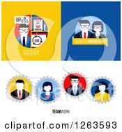 Clipart Of Human Resources Business Partnership And Teamwork Designs Royalty Free Vector Illustration by elena