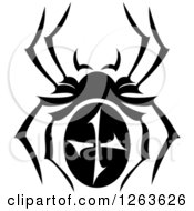 Clipart Of A Black And White Spider Royalty Free Vector Illustration by Vector Tradition SM