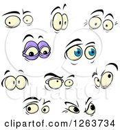 Clipart Of Expressional Eyes Royalty Free Vector Illustration by Vector Tradition SM
