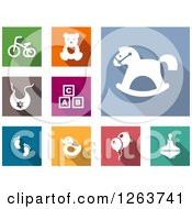 Clipart Of Baby Toy Icons Royalty Free Vector Illustration by Vector Tradition SM