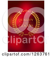 Clipart Of A Quality Goods Label On Red Royalty Free Vector Illustration