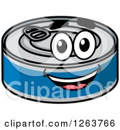 Clipart Of A Tin Can Character Royalty Free Vector Illustration