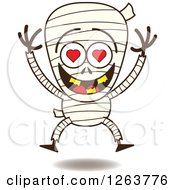 Clipart Of A Halloween Mummy In Love Royalty Free Vector Illustration