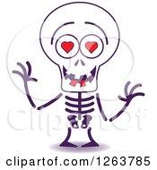 Halloween Skeleton In Love