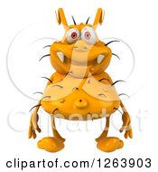 Clipart Of A 3d Yellow Germ Royalty Free Illustration by Julos
