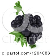 Clipart Of A 3d Blackberry Character Cartwheeling Royalty Free Vector Illustration by Julos