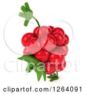 Clipart Of A 3d Raspberry Character Cartwheeling Royalty Free Vector Illustration by Julos
