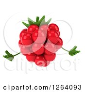 Clipart Of A 3d Raspberry Character Welcoming Royalty Free Vector Illustration by Julos